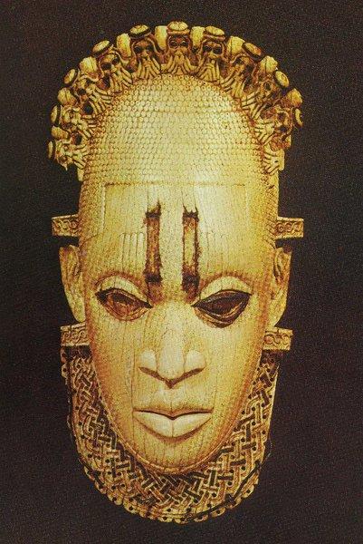 24. Маска-подвесок. Бенин. Слоновая кость. Лондон, Британский музей