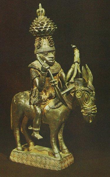 25 Всадник. Бенин. Бронза. Лагос, Национальный музей
