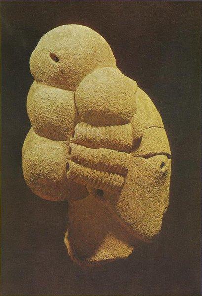 3. Мужская голова. Культура Нок. X в. до н.э. - III в. н.э. Терракота. Джое, Национальный музей
