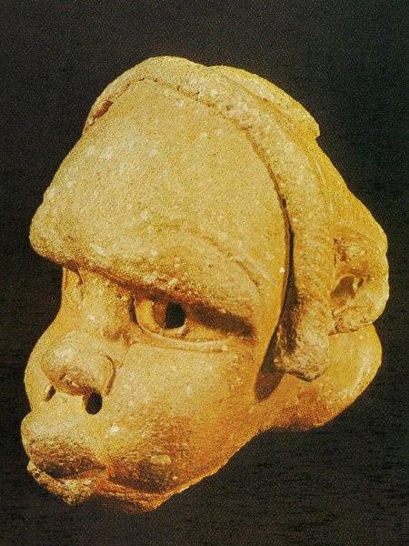 5 Мужская голова. Культура Нок. Терракота. Джое, Национальный музей