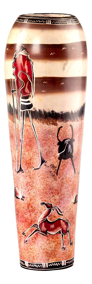 Африканская ваза Два охотника