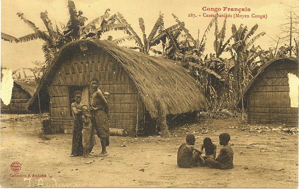 Люди Teke. Конго, Габон