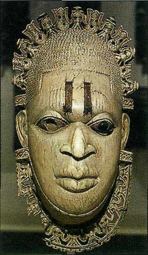 Бенинские древности - маска Edo