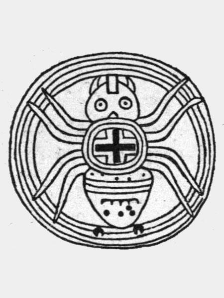 Паук, который у ацтеков символизирует создание Вселенной