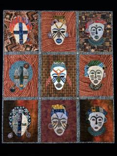 Картины и аппликации по мотивам африканских масок