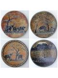 """Африканская тарелка из камня """"Джунгли"""" [25 см]"""