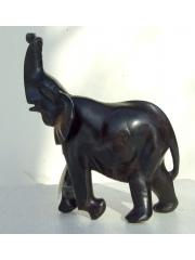 Статуэтка африканского слона из дерева черного цвета