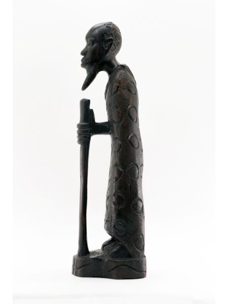 """Африканская фигурка """"Старик"""" из эбенового дерева"""