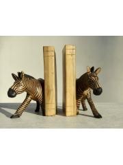 Подставка для книг с фигурками зебры - bookends - упор для книг