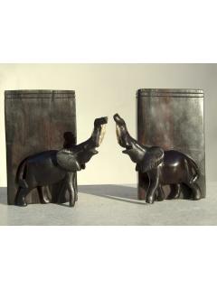 """Подставка для книг """"Слон"""" черешня (bookends) [Кения]"""