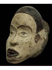 Африканская маска шлем фетиш народности Bakongo (Конго) с глазами из стекла