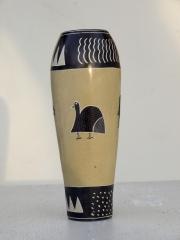 """Африканская ваза из натурального камня """"Наивная Африка"""""""