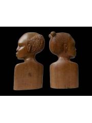 """Пара африканских статуэток из дерева """"Неразлучники"""""""