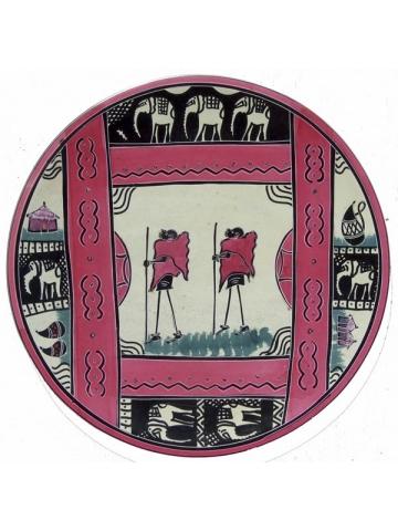 Африканская декоративная тарелка на стену круглой формы в африканском стиле