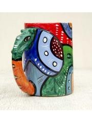 Декоративная кружка в африканском стиле из натурального камня