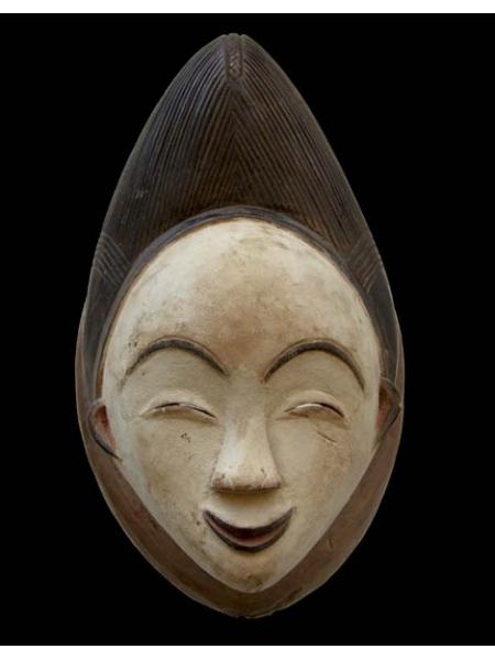 Эффектная и выразительная улыбающаяся африканская маска из Габона Punu