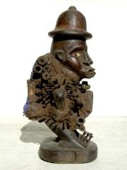 Статуэтка Bakongo фетиш Nkisi Power с двумя лицами