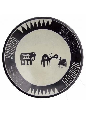 Круглые тарелки из Африки, сделанные из камня талькохлорита