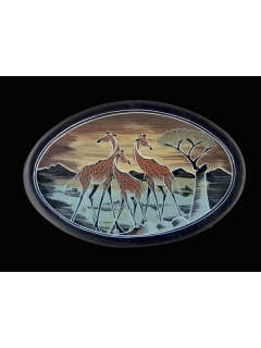 "Тарелка ""Жирафики"" [Кения], 26 см"