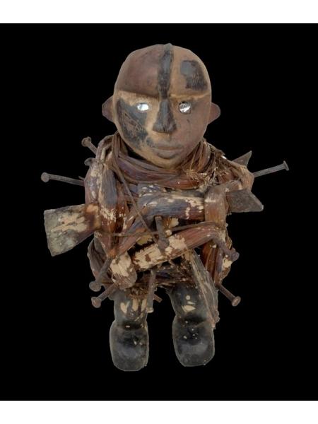 Статуэтка Bakongo фетиш Nkisi Power с зеркалами в глазах
