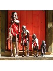 Африканская статуэтка человека из дерева высотой 90 см