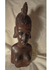 """Коллекционная статуэтка женщины из дерева палисандр """"Победа"""""""