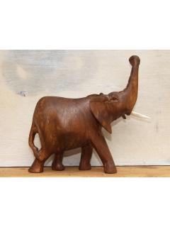 """Фигурка слона с поднятым хоботом """"Темный орех"""" [15x15 см]"""