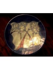 Африканская тарелка с традиционным рисунком из натурального камня категории Ян