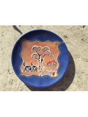 """Африканское блюдо """"Ореховое счастье"""" с традиционным рисунком из камня талькохлорит категории Ян"""