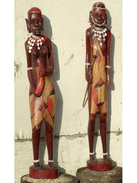 Две африканские статуэтки из дерева