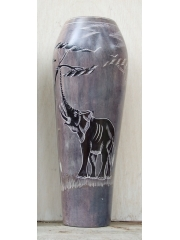 """Африканская ваза из натурального камня """"Дотянуться до неба"""", 26 см"""