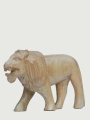 Фигурка африканского льва из дерева, длина 14 см