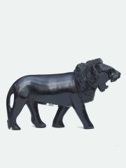 Африканская фигурка льва из дерева размером 10x20 см