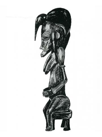Африканская статуэтка праматери