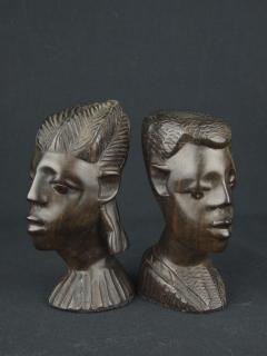 """Статуэтки бюсты """"Гармоничная пара"""" [Кения], 15 см"""