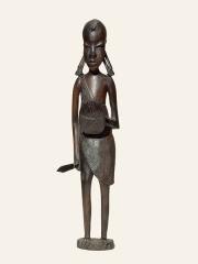 Купить деревянную африканскую статуэтку мальчика воина из Танзании