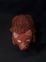 Фигурка лежащей кошки из натурального камня талькохлорит. Сделано в Кении 1683-4