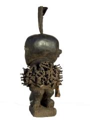 Статуэтка Bakongo фетиш Nkisi Power с тремя лицами