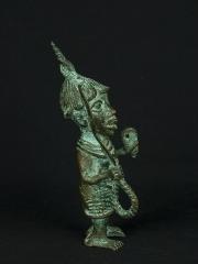 Бенинская бронза. Статуэтка воина. Высота 18 см