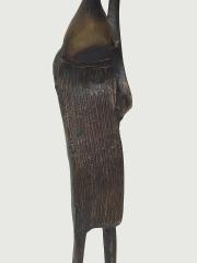 """Статуэтка африканской женщины из бронзы """"Все в дом"""" с кувшином на голове"""