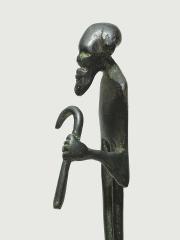 """Бронзовая африканская статуэтка мужчины """"Товарищ время"""""""