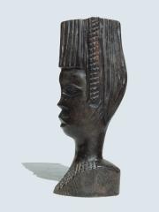 Купить статуэтку бюст африканской девушки из эбенового дерева