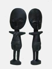 Пара африканских кукол Ашанти из дерева для красоты и здоровья детей
