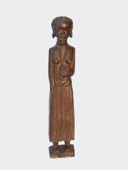 Статуэтка африканской женщины из твердой породы дерева «Хозяйка»
