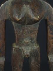 Антропоморфная двуполая фигура из дерева народности, вероятно, Yaka
