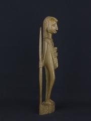 Статуэтка воина масая из твердой породы дерева (Кения)