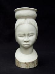Бюст африканской женщины из слоновьей кости