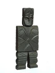 Фигура воина защитника из дерева народности Вепсы