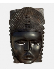 Африканская настенная маска из дерева Oba (Бенин)
