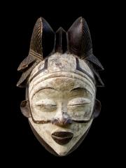 Ритуальная африканская маска народности Punu или Tsanghi